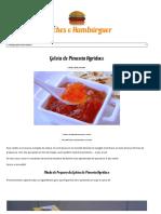 Geleia de Pimenta Agridoce - Receitas Lanches-Hambúrguer