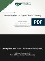 Intro to  Tone Clock Theory