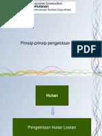 3 Prinsip Prinsip Pengelolaan Hutan