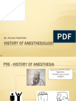 History of Anesthesiology