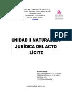 Trabajo Unidad II Naturaleza Juridica Del Acto Ilicito