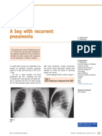 A Boy With Recurrent Pneumonia