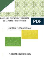 Modelo de Educación Vivenciada de Lapierre y Acoutourier