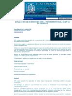 (Abm) Evaluación de Inversiones Con La Administración Basada en Actividades