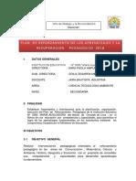 Plan Reforzamiento Pedagogico Maria Auxiliadora