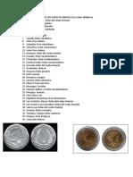 Monedas de Los Paises de America