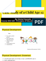 this case study of a child age 12