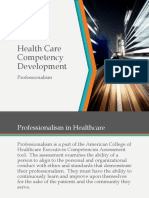 Healthcare Competency Development