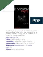 El Gato Negro Es Un Cuento de Horror Del Escritor Estadounidense Edgar Allan Poe