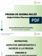Instructivo Prueba de Inglés Unal Aspirantes Estudiantes 2018-01
