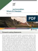 Intersect ENT Company Presentation May 2018