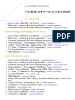 Diseases of the Brain and Nervous System(a Health Education Guide) - Lecture Notes, Study Material and Important Questions, Answers