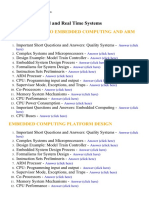 Embedded and Real Time Systems - Lecture Notes, Study Material and Important Questions, Answers