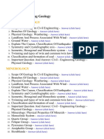 Engineering Geology - Lecture Notes, Study Material and Important Questions, Answers