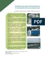 Algunos Criterios Para Seleccionar Sistemas de Tratamiento de Aguas Residuales