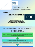 Diapositivas Organización del Estado Colombiano  y Formas  Organizativas  del Estado a Nivel Territorial