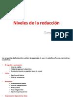 Niveles de La Redacción según el examen de PUCP