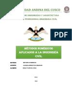 Metodos numericos aplicados a la ingenieria civil