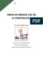 Obras de Drenaje Vial en La Construccion