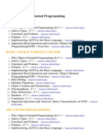 Object Oriented Programming - Lecture Notes, Study Material and Important Questions, Answers