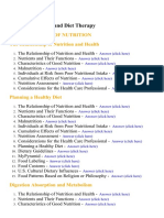 Nutrition and Diet Therapy - Lecture Notes, Study Material and Important Questions, Answers