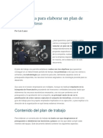 Guía Rápida Para Elaborar Un Plan de Trabajo Exitoso