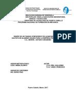 DISEÑO DE UN TANQUE ATMOSFÉRICO DE ALMACENAMIENTO DE SULFATO DE ALUMINIO LÍQUIDO PARA LA EMPRESA FERRO ALUMINIO, C.A., MORÓN – ESTADO CARABOBO