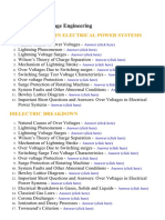 High Voltage Engineering - Lecture Notes, Study Material and Important Questions, Answers