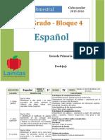 Plan 1er Grado - Bloque 4 Español