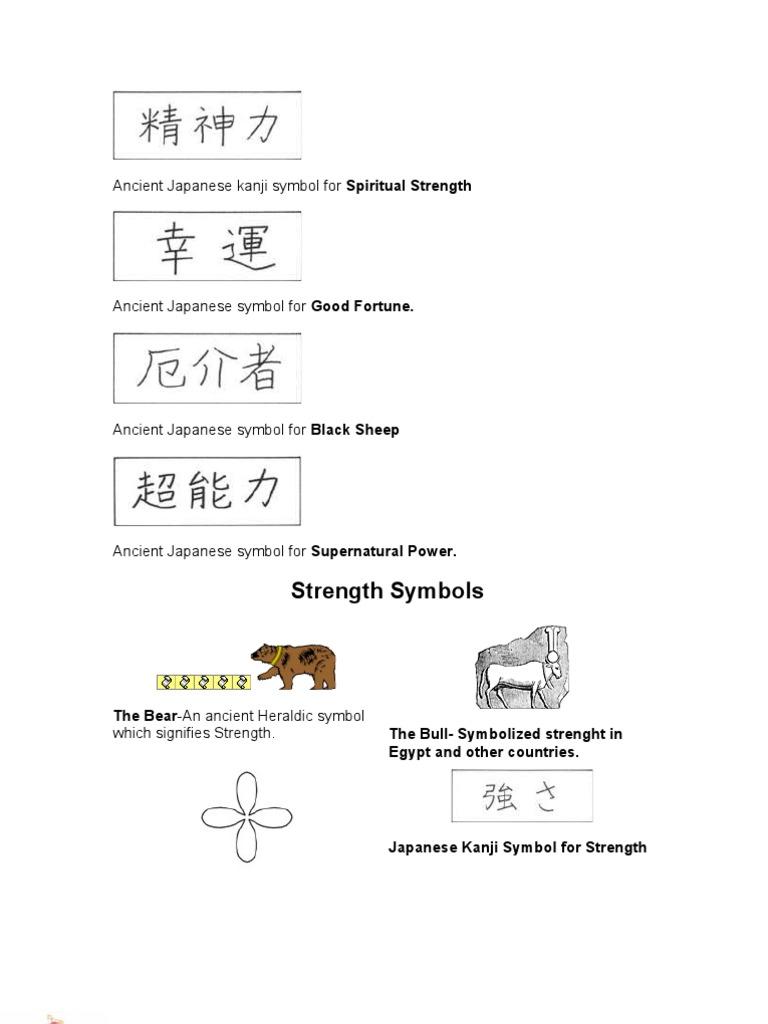 Ancient Japanese Kanji Symbol For Spiritual Strength Wicca Goddess