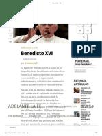Benedicto XVI Bios Adelante La Fe