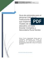 Guia de Entrevista Para El Proceso de Convocatoria CAS