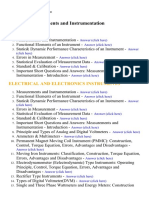 Measurements and Instrumentation - Lecture Notes, Study Material and Important Questions, Answers
