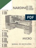 Manual Torno Nardini Mc 220 Ae