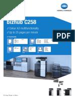 Bizhub c258 Datasheet