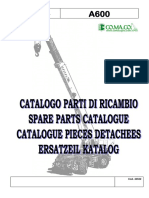 Spare Parts Manual(Cod.43522) A600 Sn. 507.684