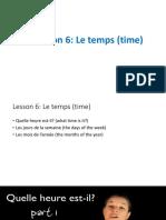 Lesson 6_Le Temps (Time)