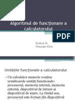 Algoritmul de Funcționare a Calculatorului