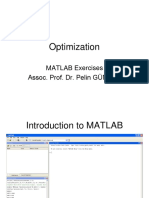 Optimization MATLAB Exercises