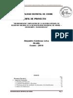 MEJORAMIENTO Y AMPLIACION DE LA GESTION INTEGRAL DE RESIDUOS SOLIDOS EN LA MUNICIPALIDAD DISTRITAL DE COSME – CHURCAMPA - HUANCAVELICA