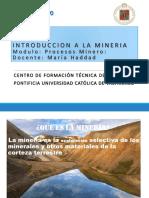 Introducción a La Mineria