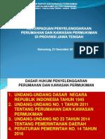 Keterpaduan Penyelenggaraan PKP Jateng
