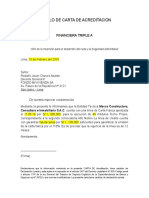 Modelo de Carta de Acreditacion Techo Propio Macsa
