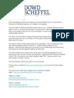 Dowd Scheffel Announcement