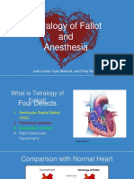 tetralogy of fallot  and  anesthesia