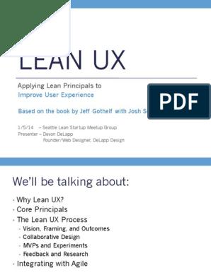 Lean Ux Design Pdf Agile Software Development Lean Startup
