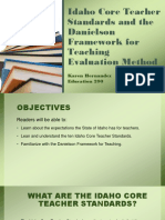 idaho core teacher standards and the danielson framework-kh