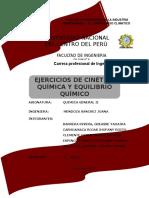 55 Ejercicios Entre Cinetica Quimica y Equilibrio Quimico