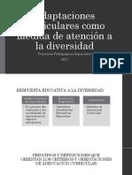 Adaptaciones Curriculares Como Medida de Atención a La Diversidad 2017