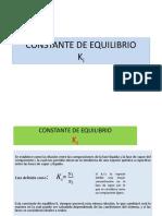 Constante de Equilibrio Ki 3 p